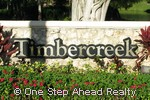 Timbercreek community sign